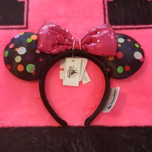 Minnie Ears With Pink Sequin Bow